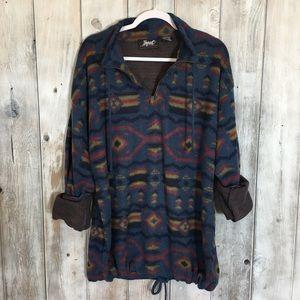 Vintage South Western Fleece Light Sweatshirt XL
